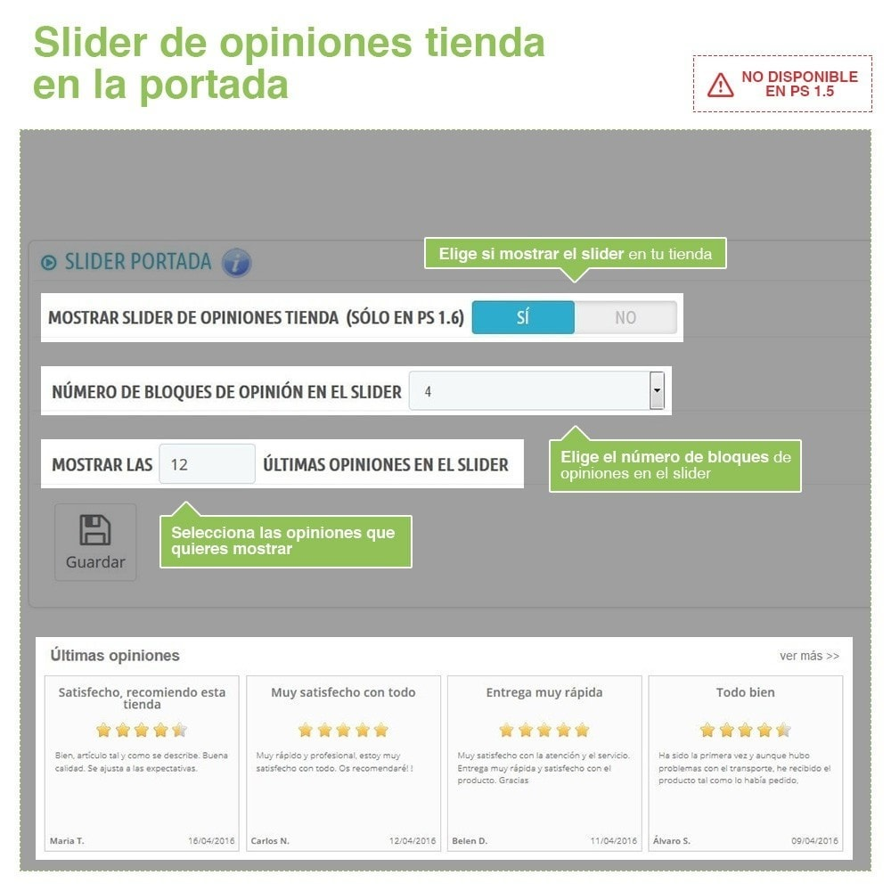 module - Comentarios de clientes - Opiniones Tienda + Opiniones Productos + Rich Snippets - 11