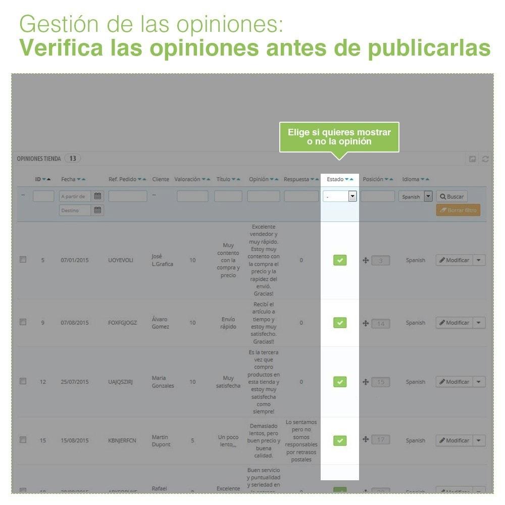 module - Comentarios de clientes - Opiniones Tienda + Opiniones Productos + Rich Snippets - 36