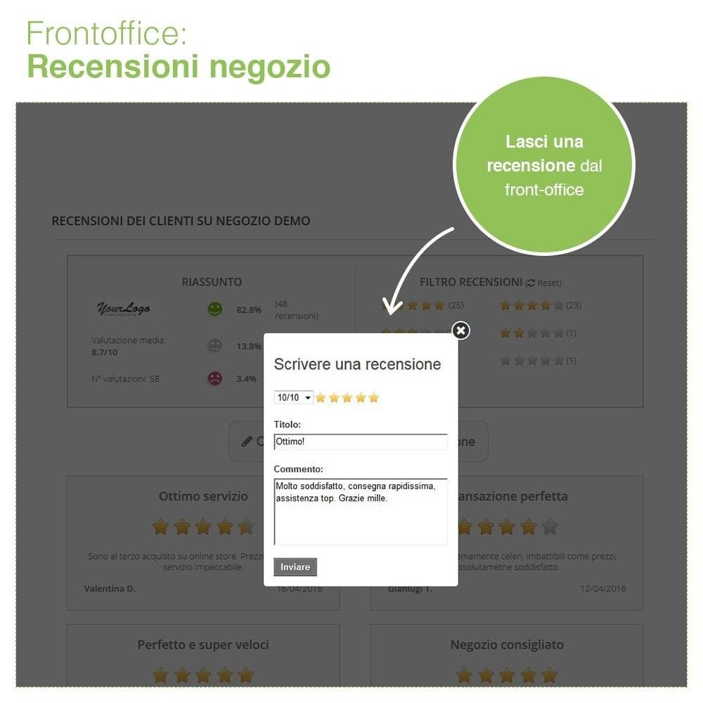 module - Recensioni clienti - Recensioni Negozio + Recensioni Prodotti + Snippets - 10