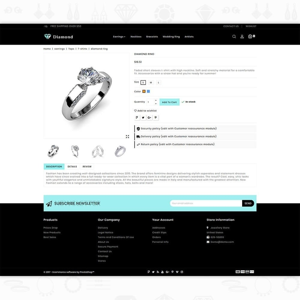 theme - Saúde & Beleza - Diamond Jewellery Shop - 5