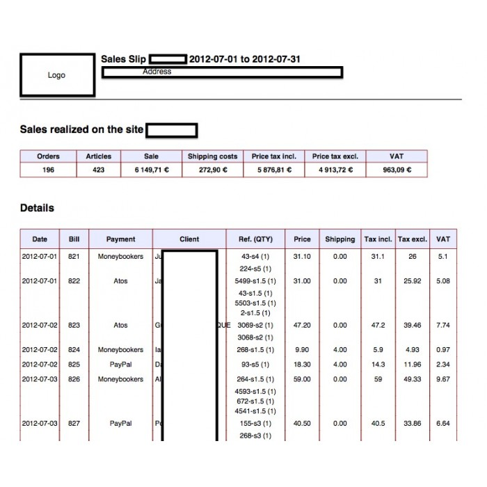 module - Data Import & Export - Sales Slip Export PDF & CSV - 11