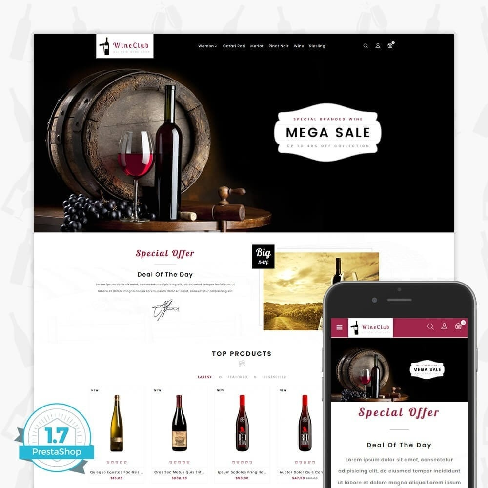 theme - Drink & Wine - Wine Club Store - 1