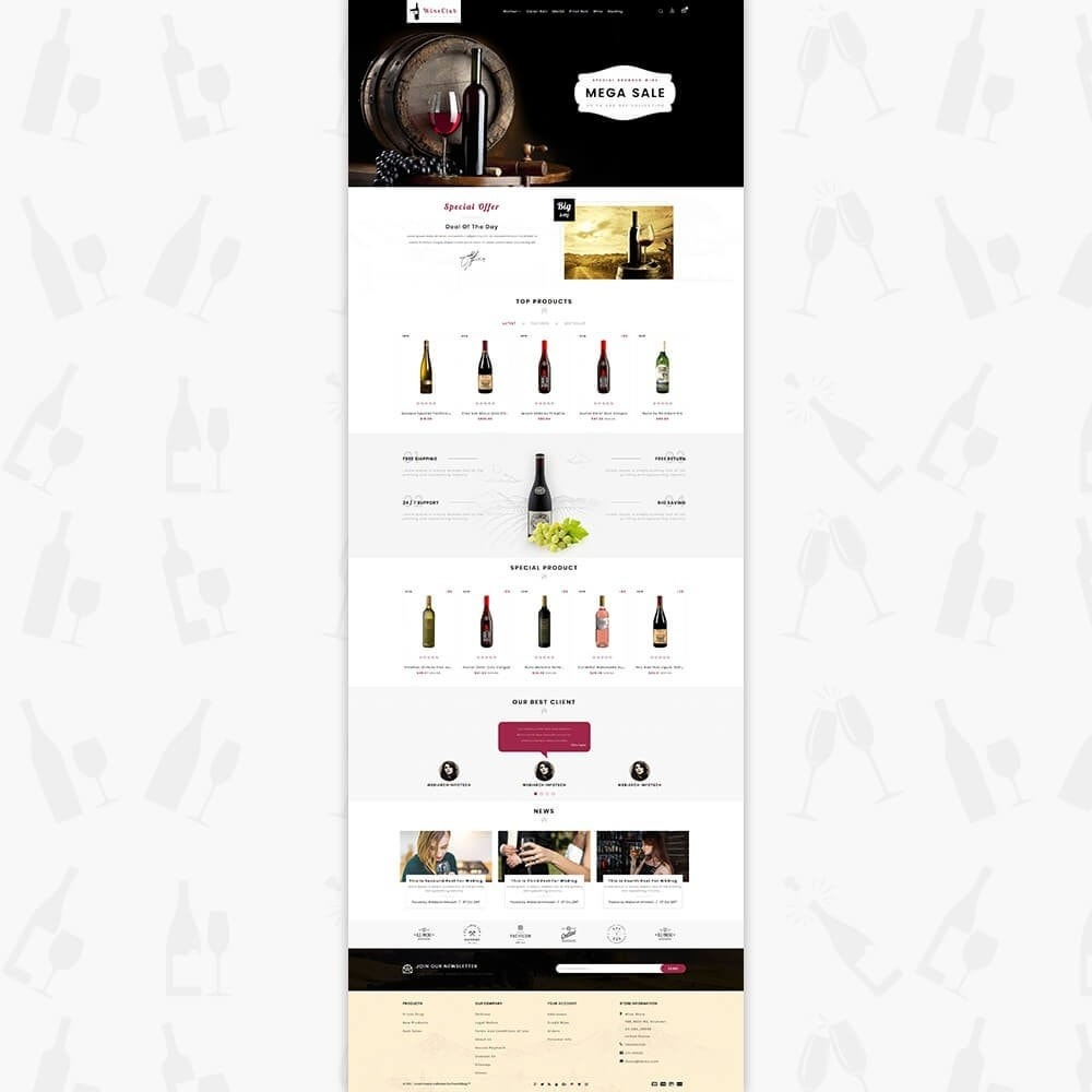 theme - Drink & Wine - Wine Club Store - 2