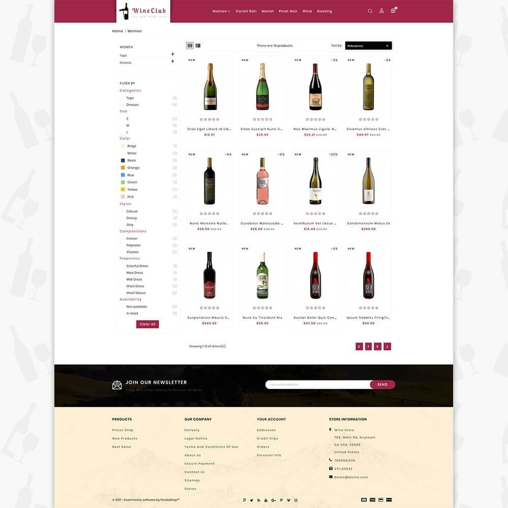 theme - Drink & Wine - Wine Club Store - 3