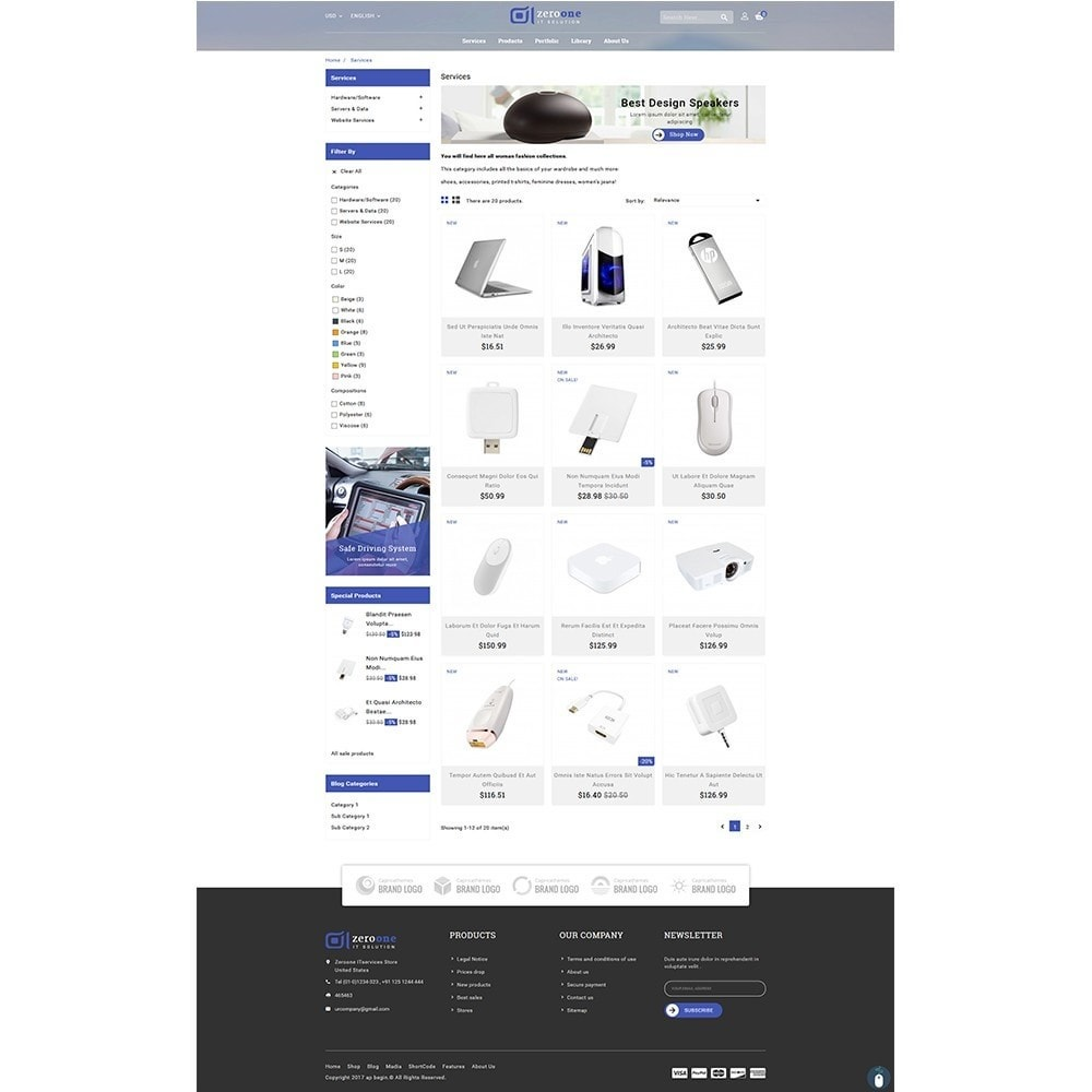 theme - Electronique & High Tech - Zeroone IT-services Store - 3