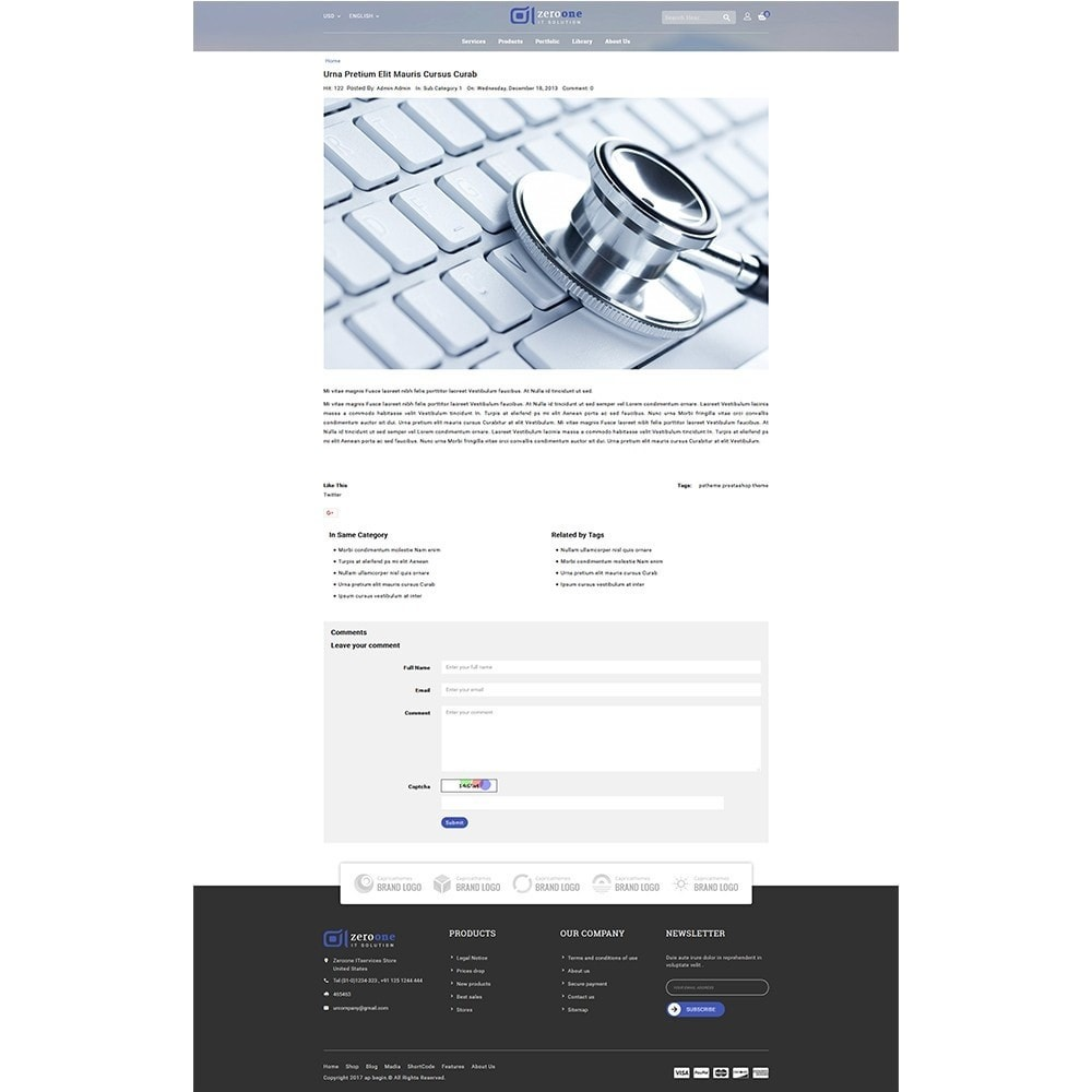 theme - Elettronica & High Tech - Zeroone IT-services Store - 8