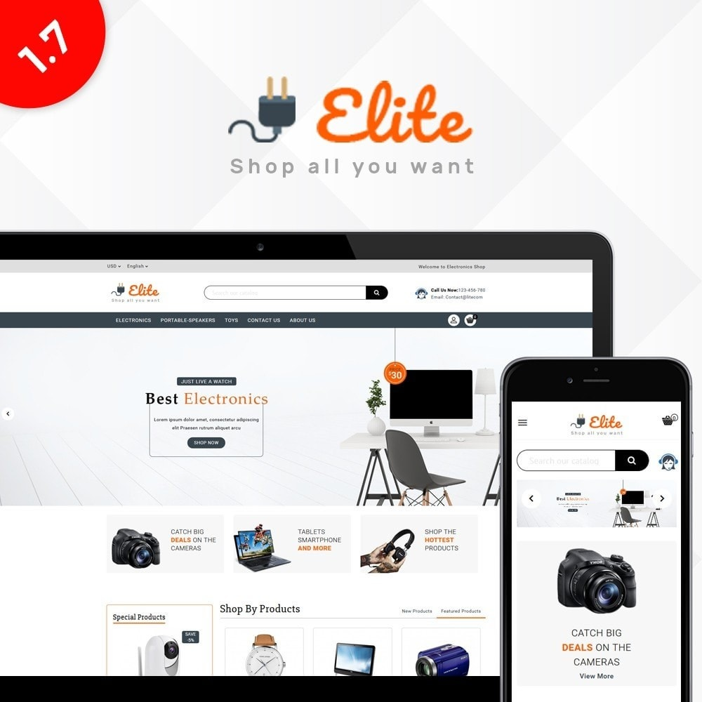 theme - Elektronika & High Tech - Elite Electronics Store - 1