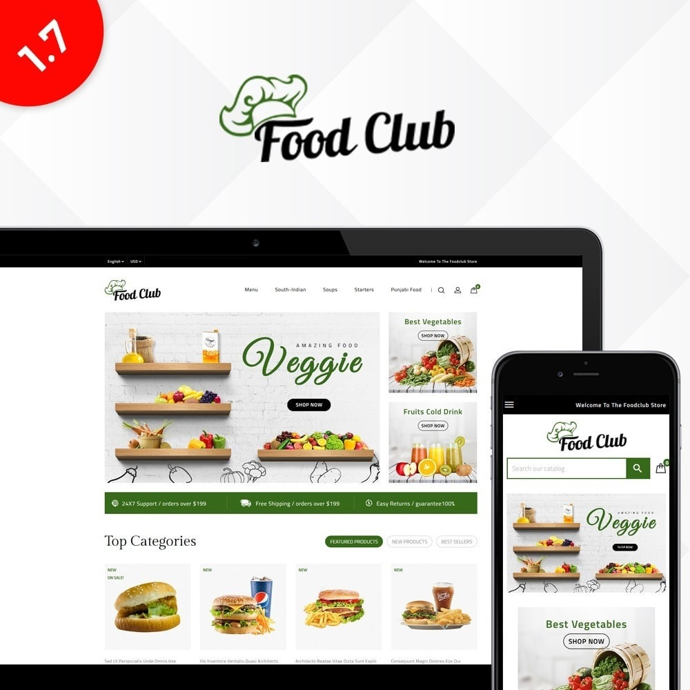 theme - Alimentation & Restauration - Foodclub Store - 1