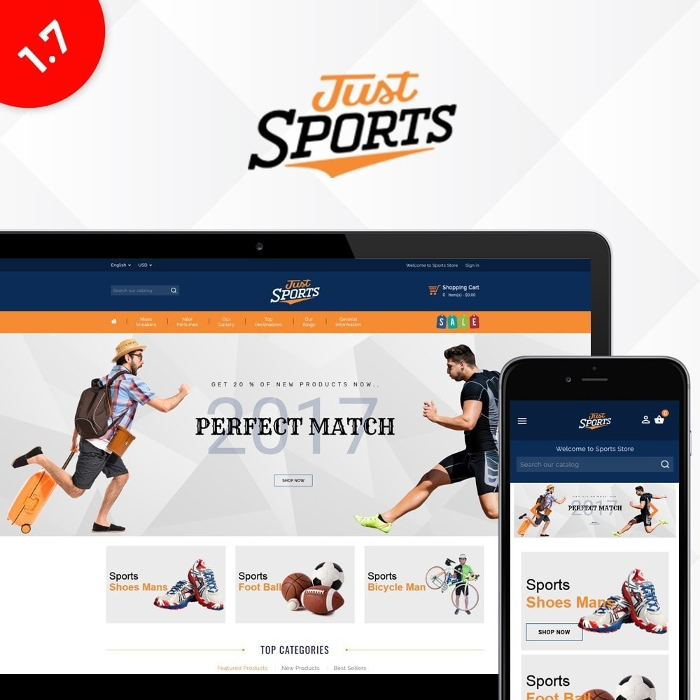 theme - Спорт и Путешествия - Just Sports Store - 1