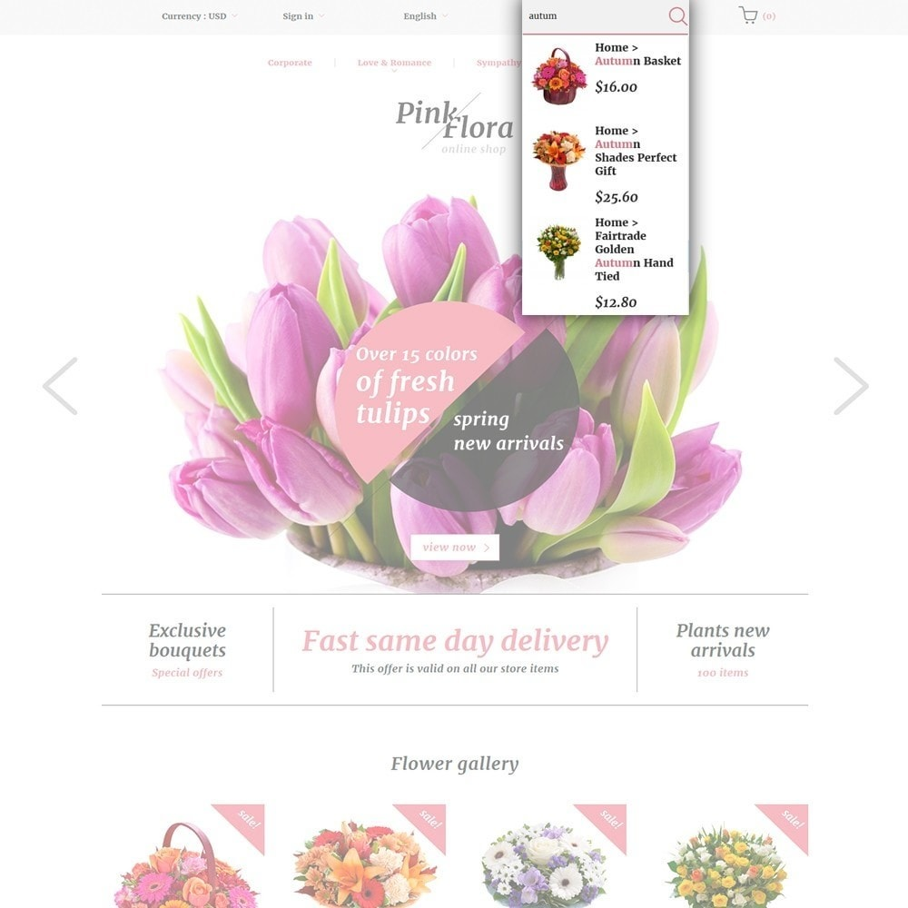 theme - Gifts, Flowers & Celebrations - Pink Flora - 6