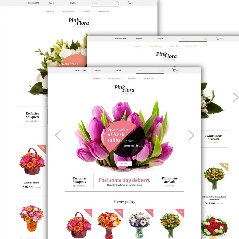 theme - Подарки, Цветы и праздничные товары - Pink Flora - 2