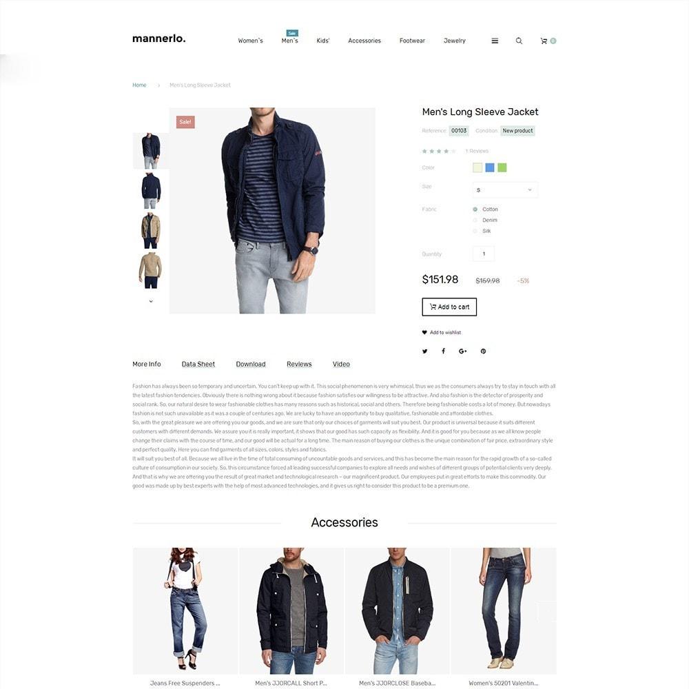 theme - Moda & Calzature - Mannerlo - Apparel Responsive - 3
