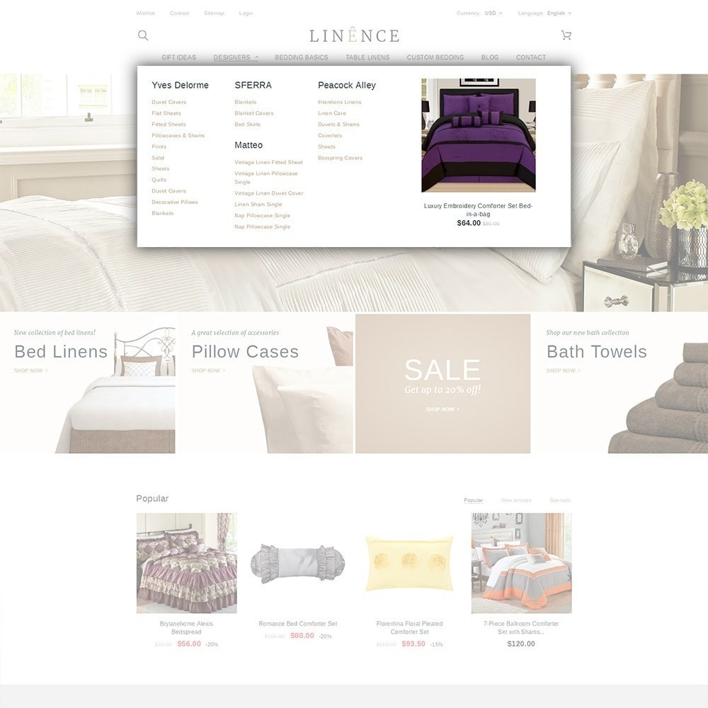 theme - Maison & Jardin - Linence - Bed Linen - 5