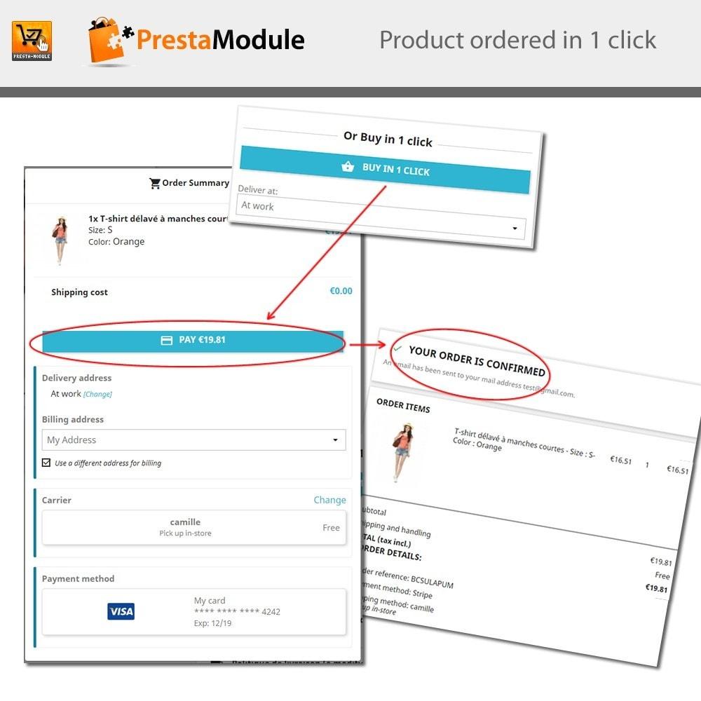 module - Pagamento por cartão ou por carteira - One Click Order - Compra com um clique - 1