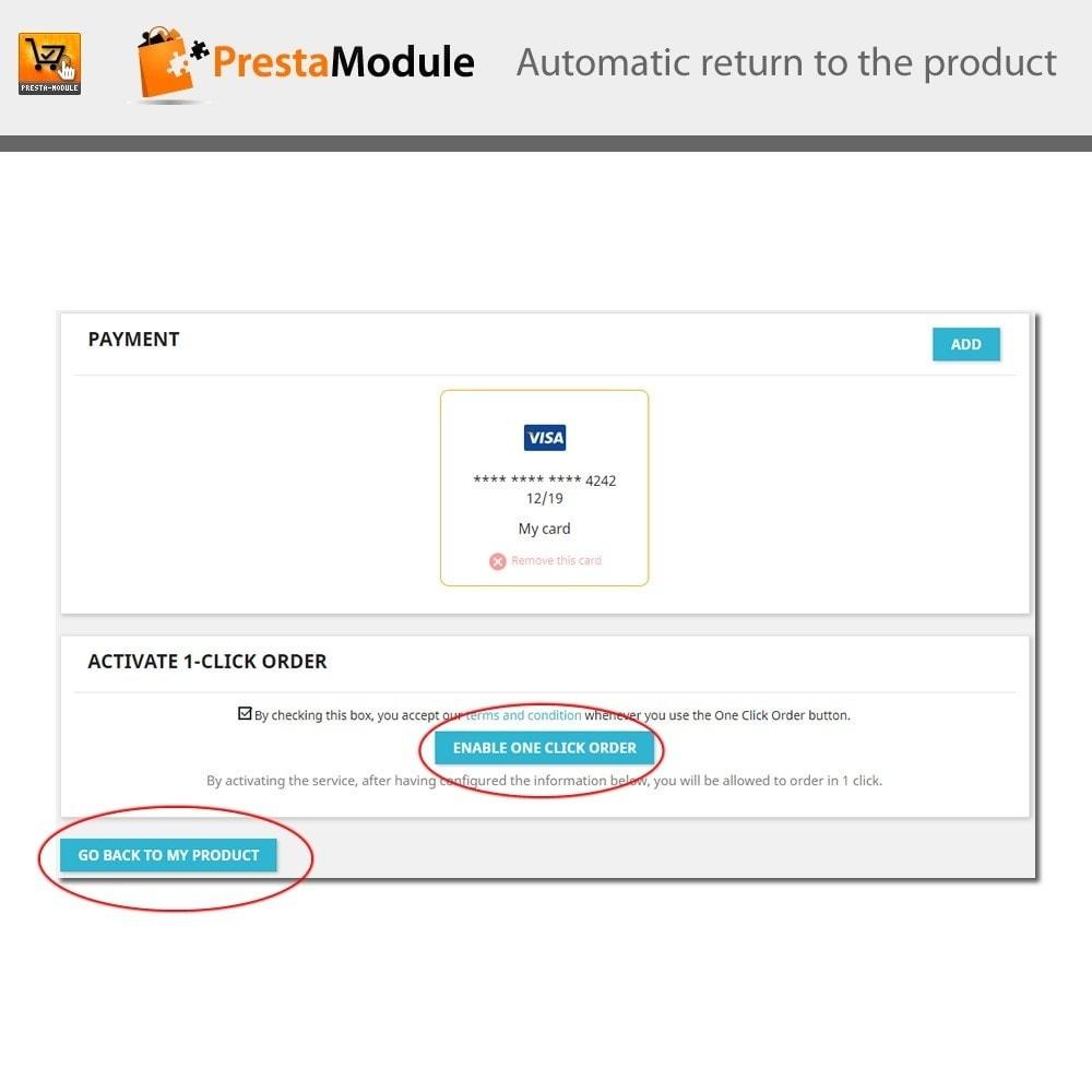 module - Pagamento por cartão ou por carteira - One Click Order - Compra com um clique - 9