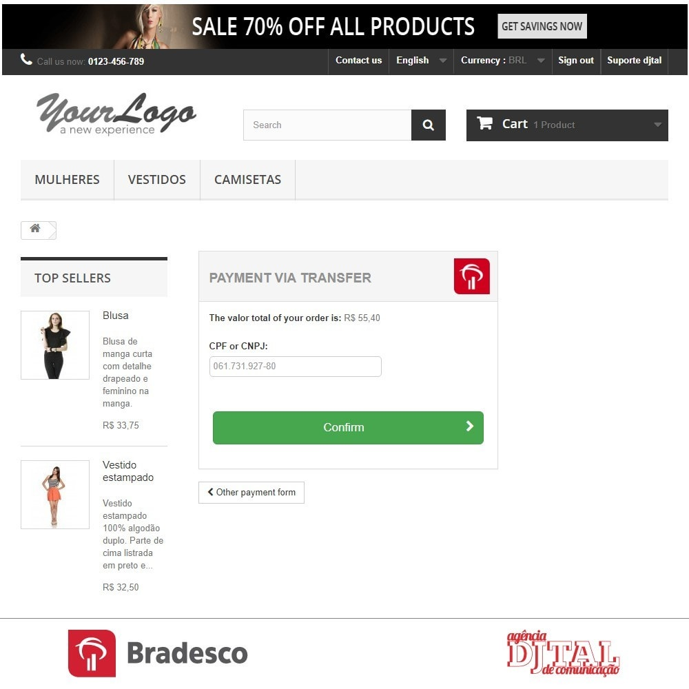 module - Payment by Card or Wallet - SPS Bradesco - 4