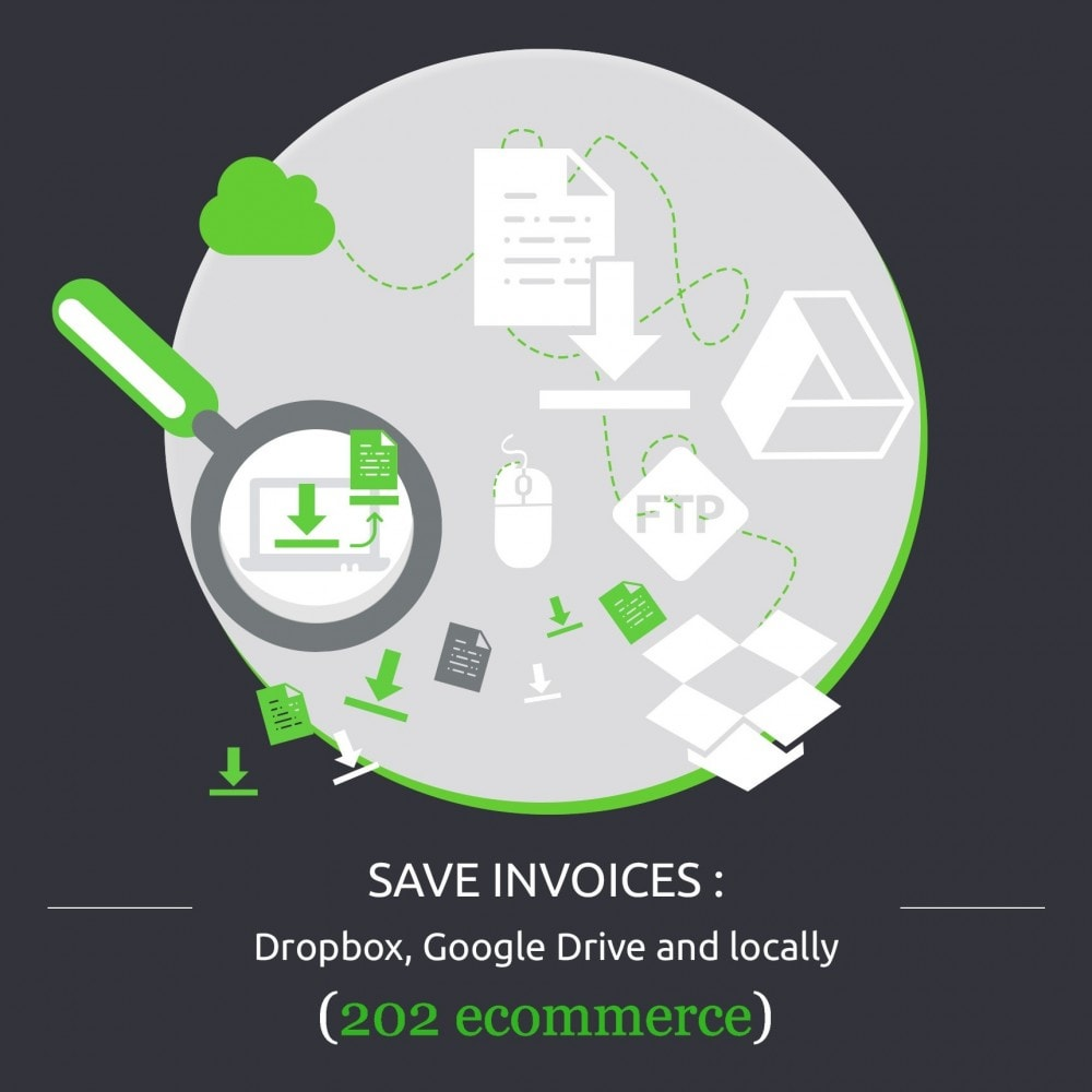 module - Data migration & Backup - Save Invoices: Dropbox, Google Drive and locally - 1