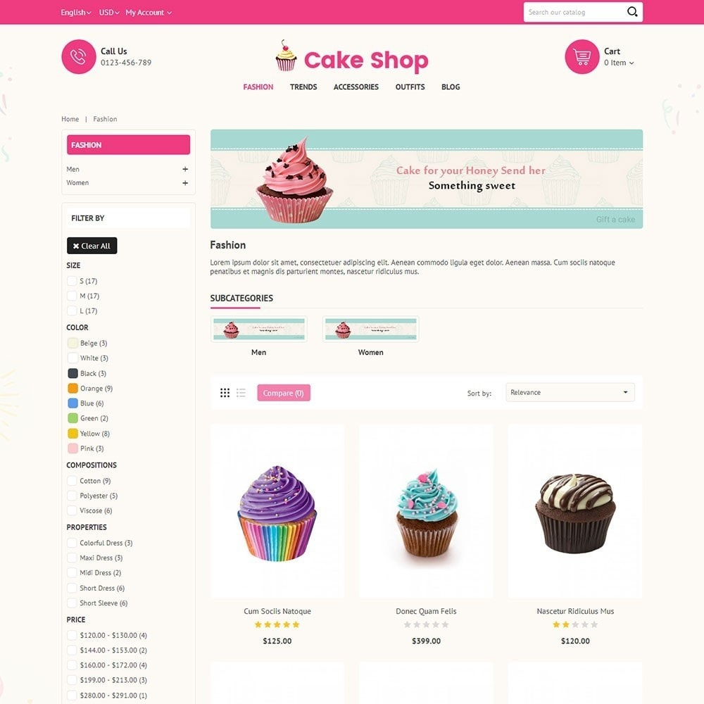 theme - Food & Restaurant - Cake Store - 3