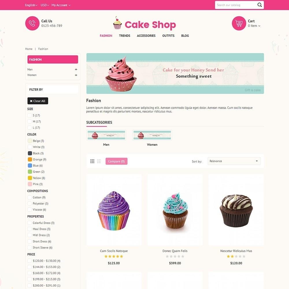 theme - Продовольствие и рестораны - Cake Store - 3