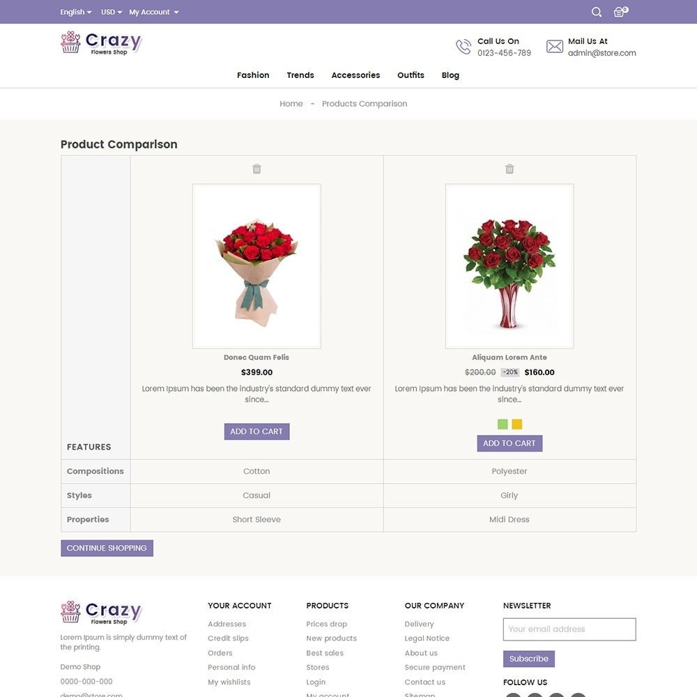 theme - Presentes, Flores & Comemorações - Crazy Flower Store - 7