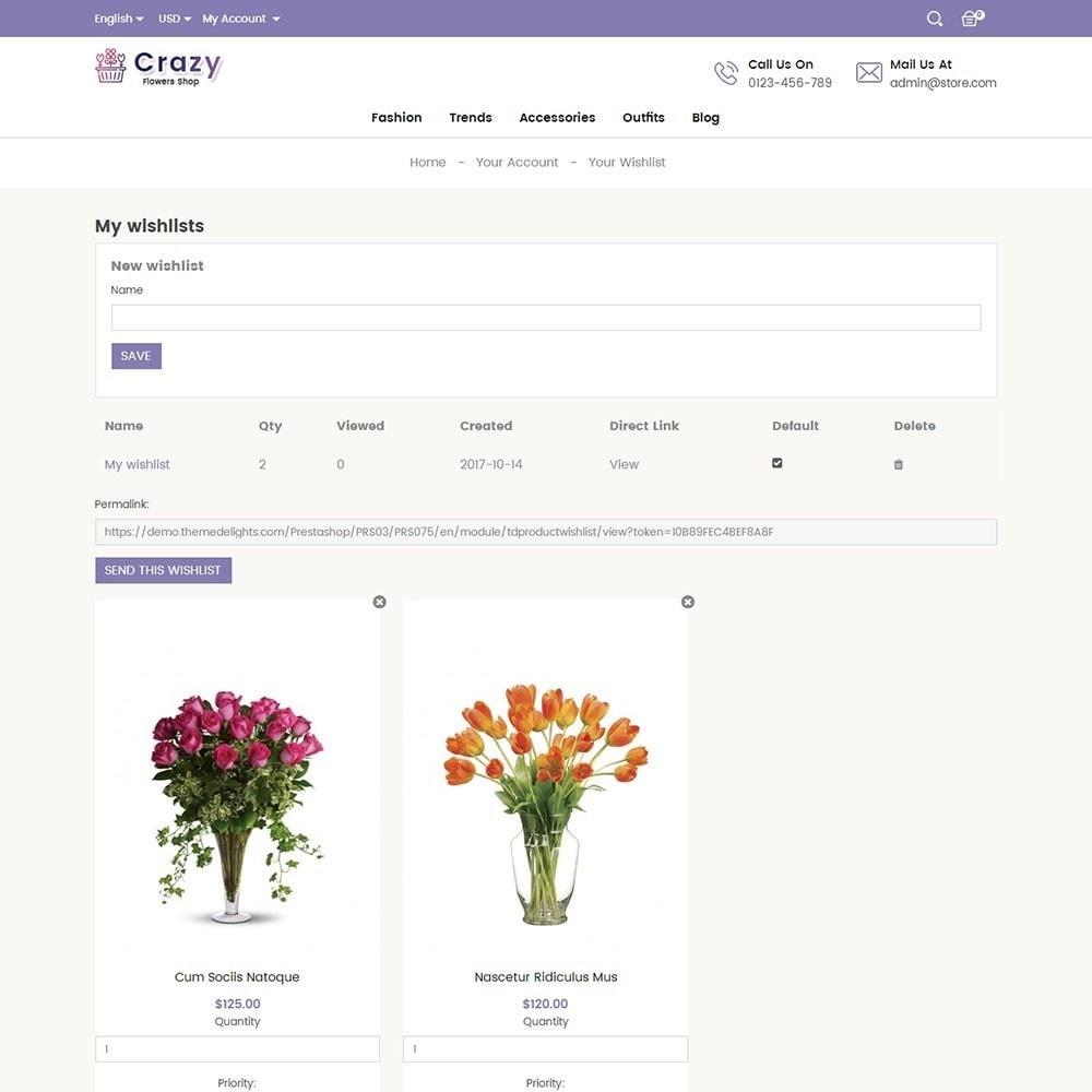 theme - Presentes, Flores & Comemorações - Crazy Flower Store - 8