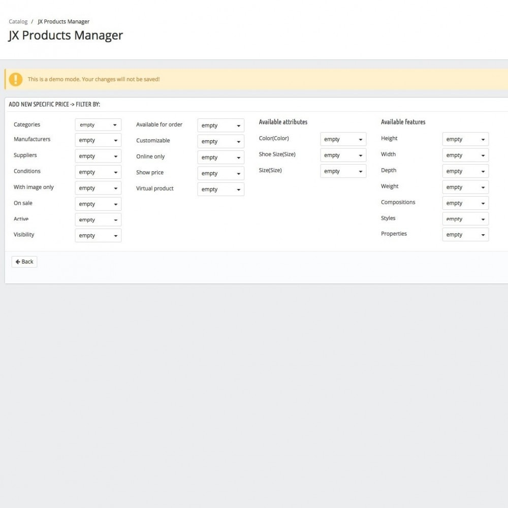 module - Snelle & seriematige bewerking - JX Products Manager - 6