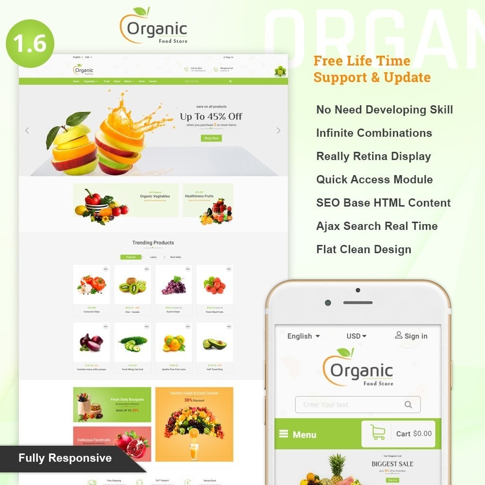 theme - Eten & Restaurant - Organic Food Store - 1