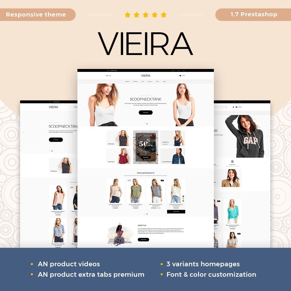 theme - Fashion & Shoes - Vieira Fashion Store - 1