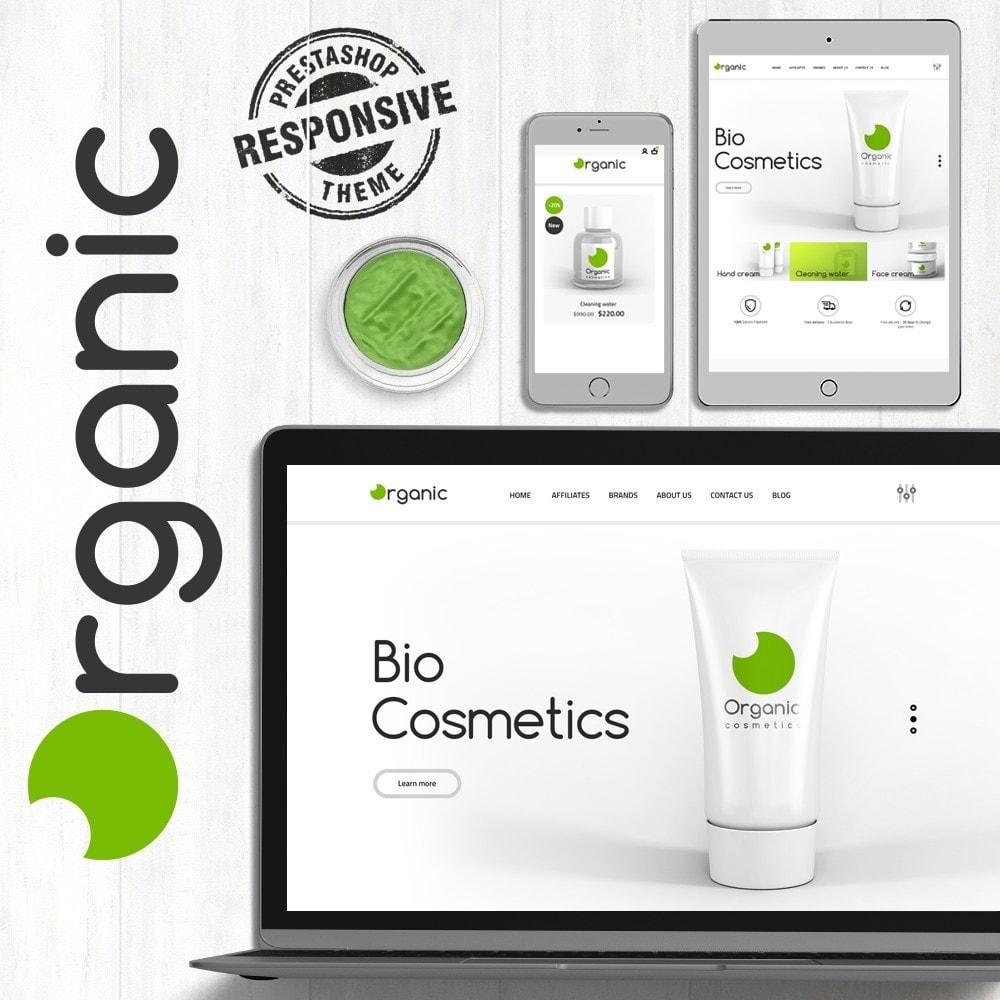theme - Health & Beauty - Organic Cosmetics - 1
