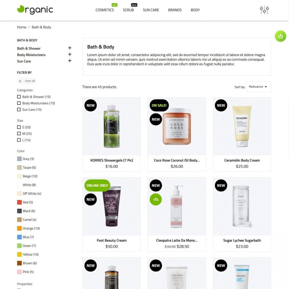 theme - Health & Beauty - Organic Cosmetics - 6