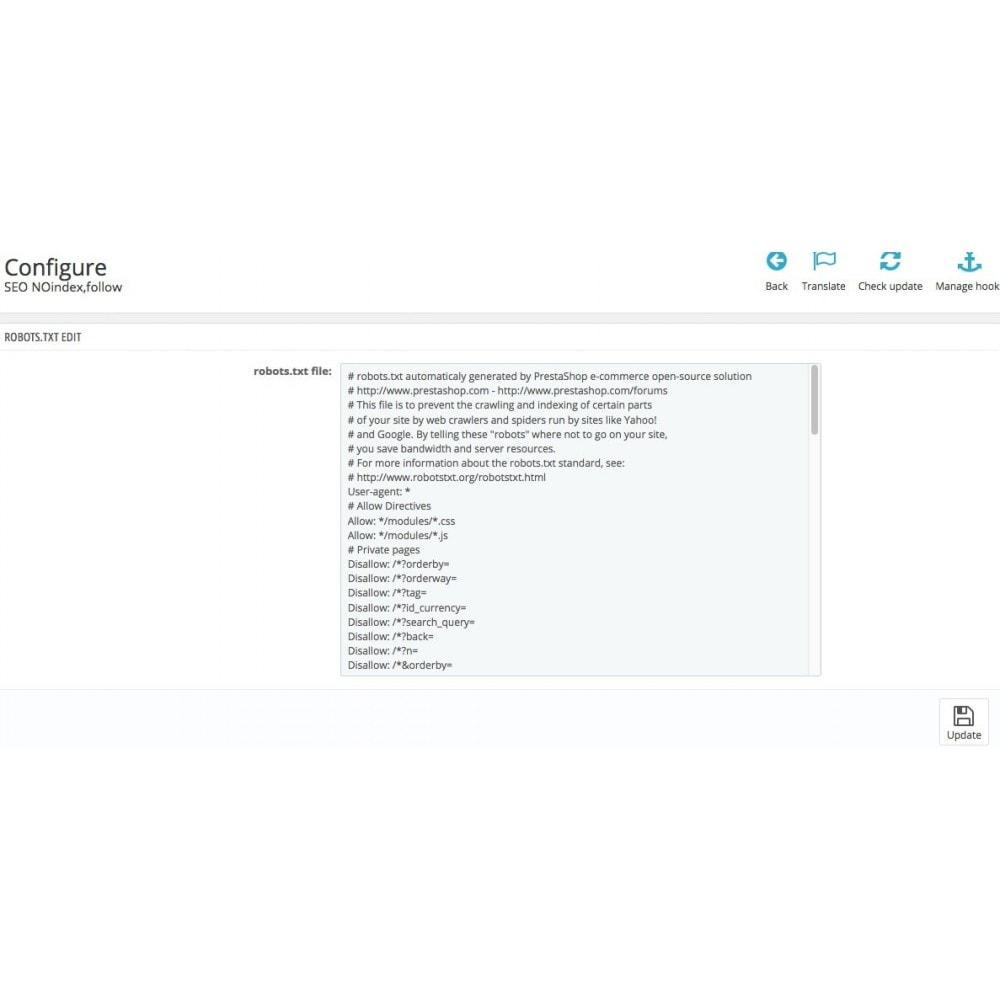 module - SEO (référencement naturel) - SEO NOindex,follow (handles Duplicate content) - 6