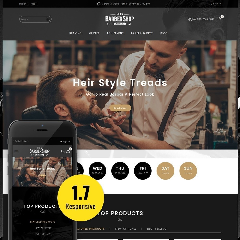 theme - Health & Beauty - BarberShop Store - 1