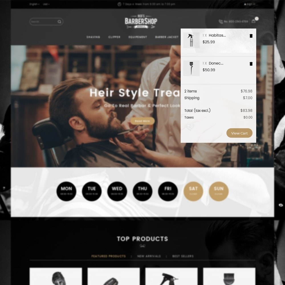 theme - Health & Beauty - BarberShop Store - 7