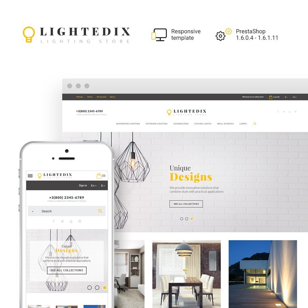 theme - Дом и сад - Lightedix - Lighting Store - 1