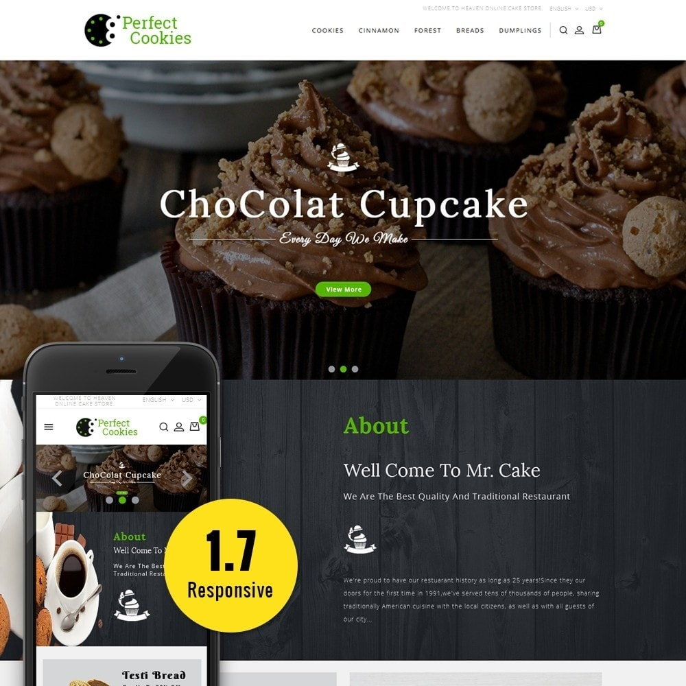 theme - Food & Restaurant - Cookies Store - 1