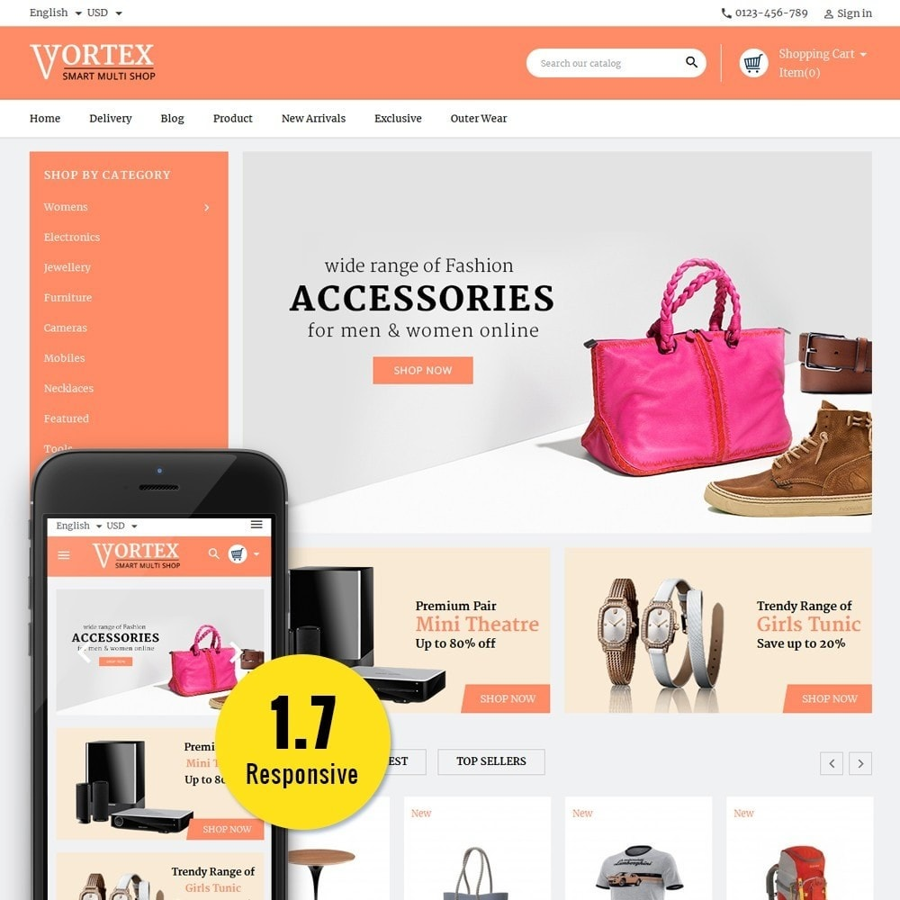 theme - Мода и обувь - Vortex Smart Multishop - 1