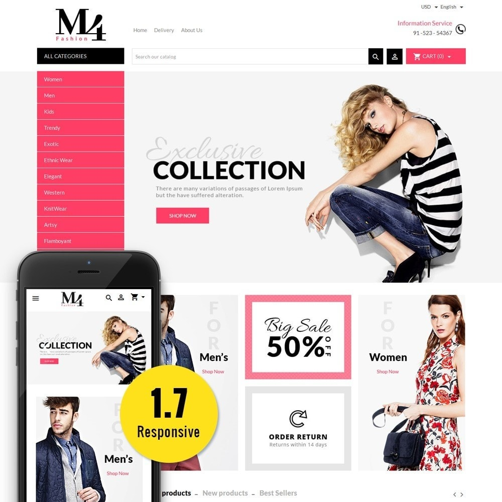 theme - Mode & Schuhe - M4 Fashion Store - 1