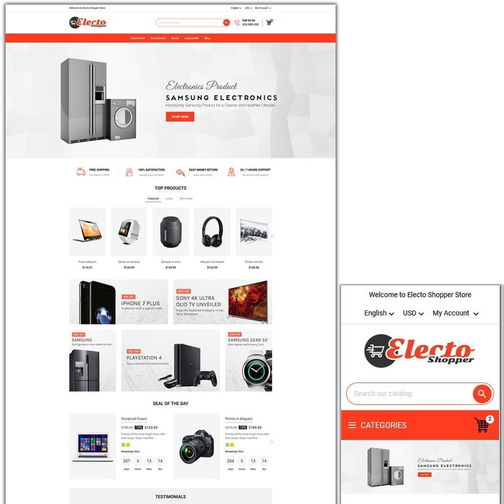 theme - Eletrônicos & High Tech - Electo Shopper Store - 1