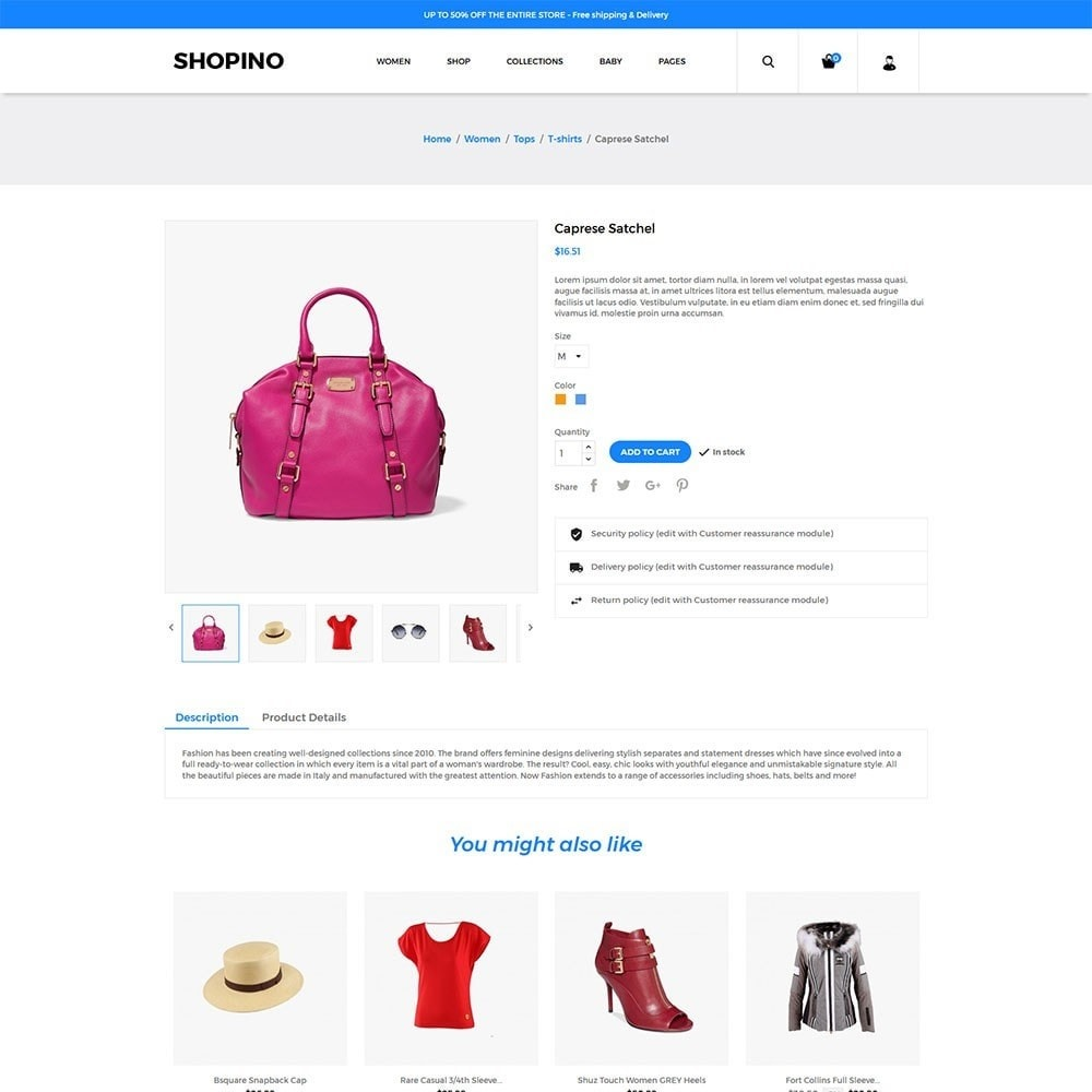 theme - Мода и обувь - Shopimo Fashion Store - 4