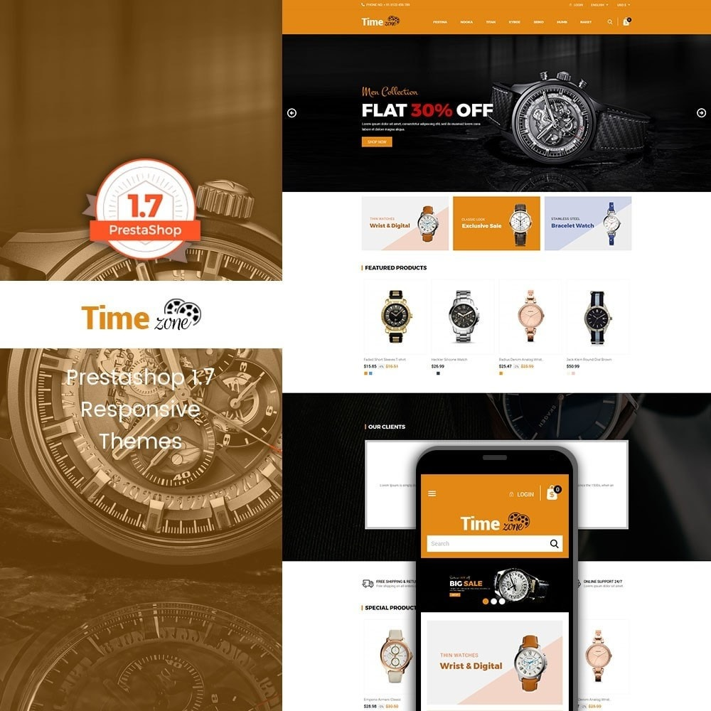 theme - Moda y Calzado - Time Zone Watch Store - 1