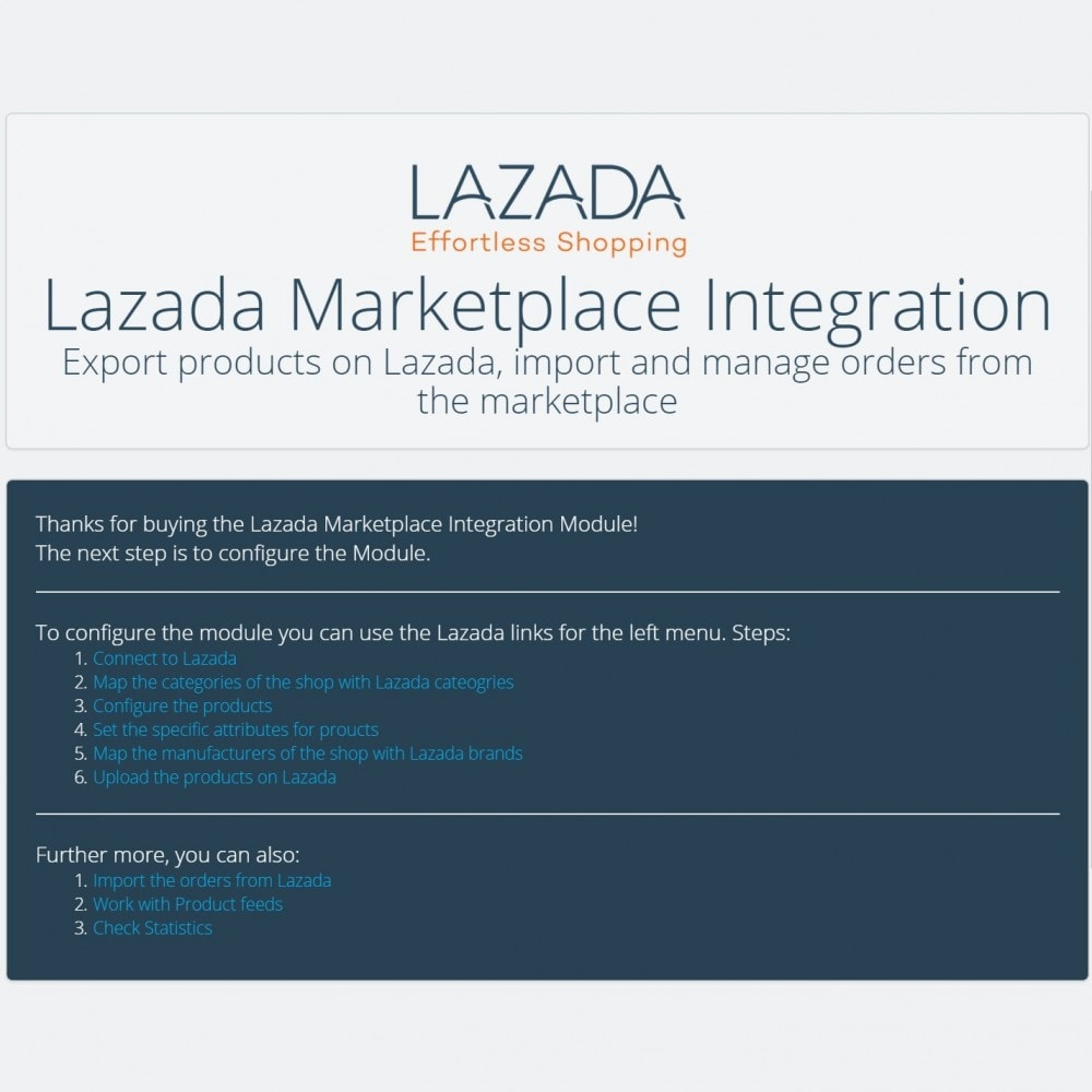 module - Platforma handlowa (marketplace) - Lazada Marketplace Integration - 4