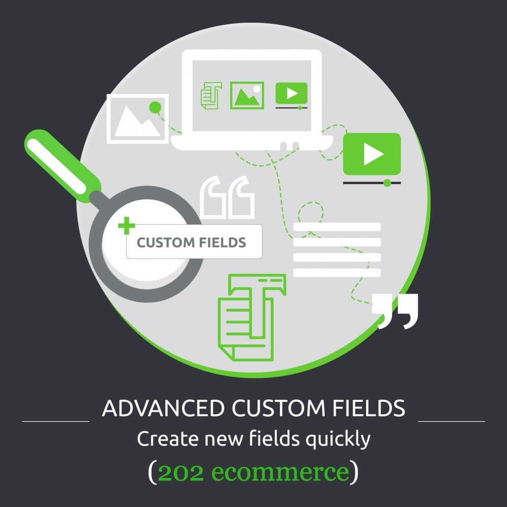 module - Bijkomende Informatie - Advanced Custom Fields : create new fields quickly - 1