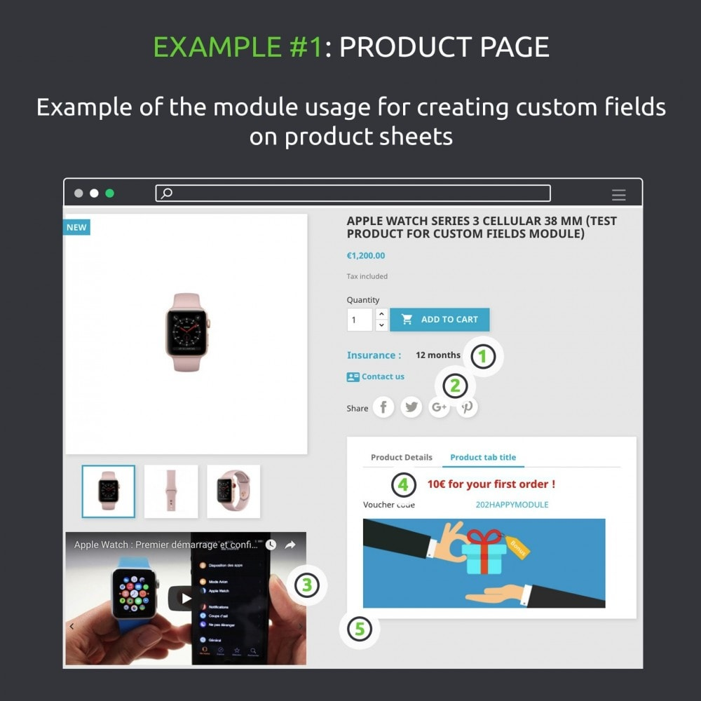 module - Altre informazioni & Product Tab - Advanced Custom Fields : create new fields quickly - 7