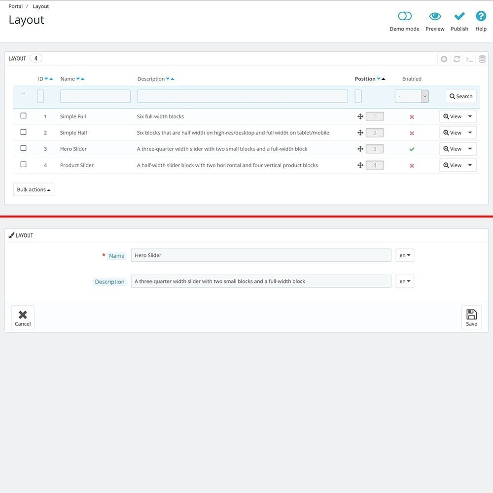 module - Personalizzazione pagine - EVOLVE Portal - 5