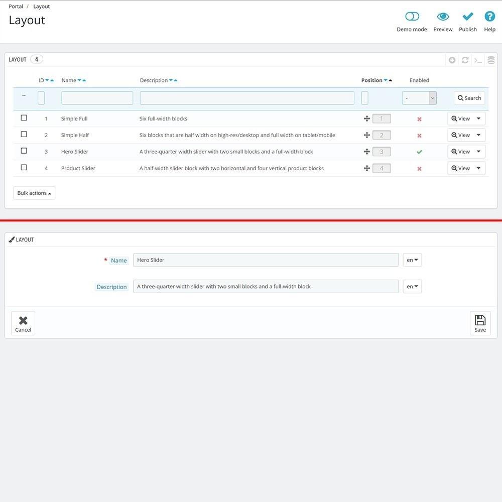 module - Personalizacja strony - EVOLVE Portal - 5