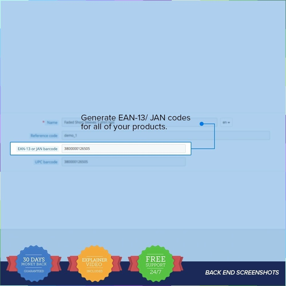 module - Estoques & Fornecedores - EAN - UPC codes Generator - 3