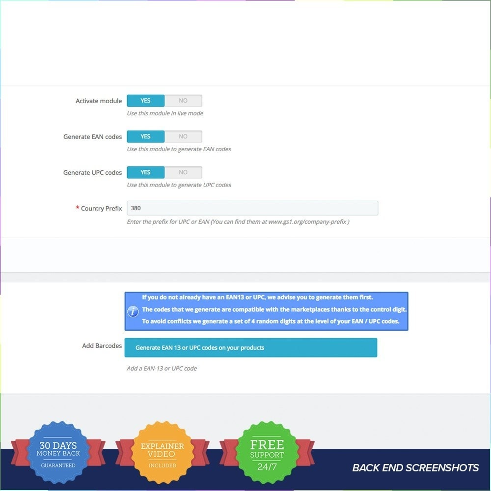 module - Bestands & Lieferantenmanagement - EAN - UPC codes Generator PRO - 3
