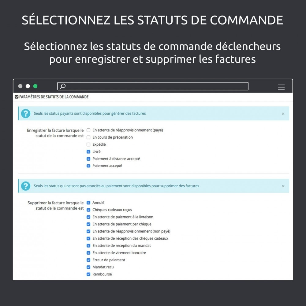 module - Migration de Données & Sauvegarde - Enregistrer vos factures: Dropbox, Google Drive, local - 3
