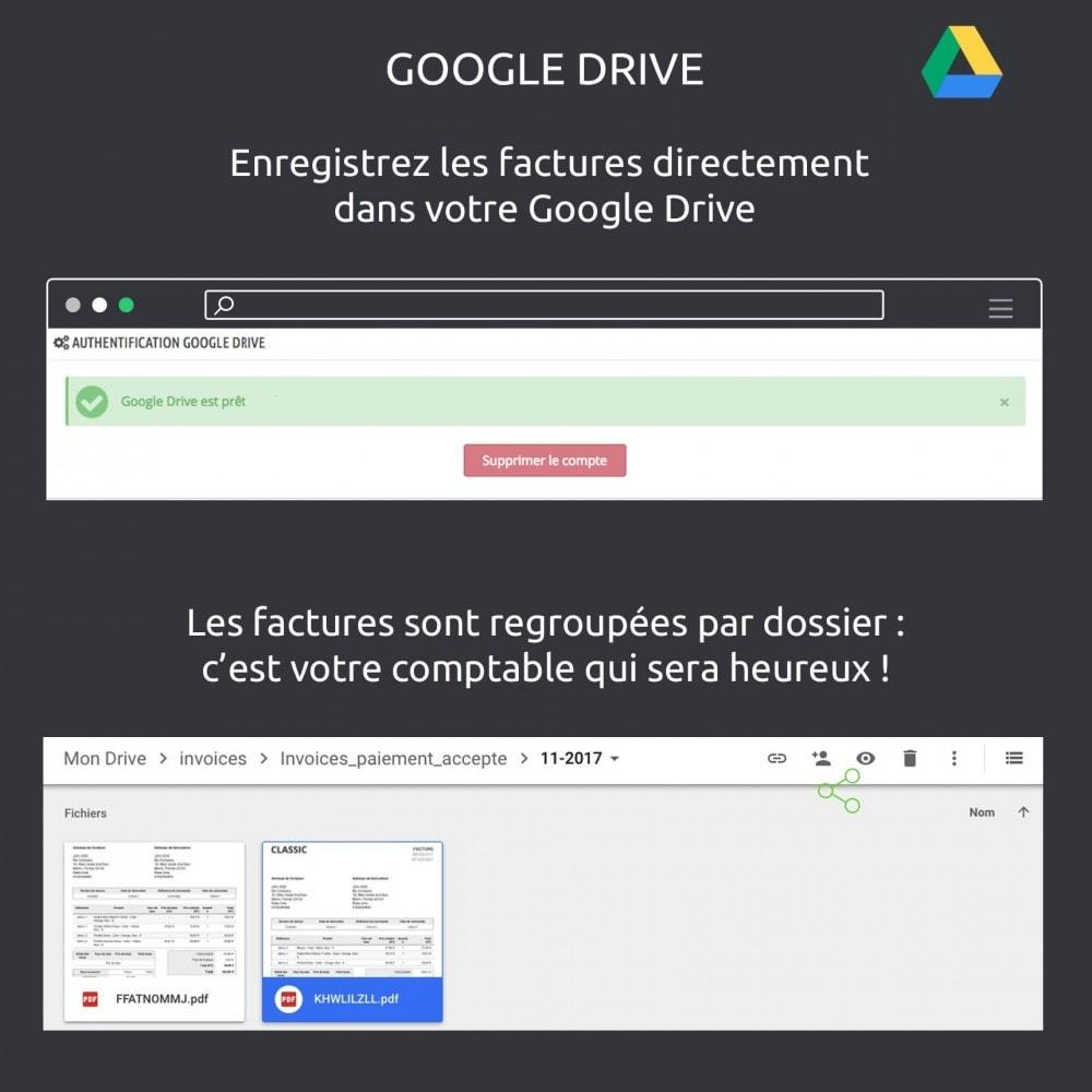 module - Migration de Données & Sauvegarde - Enregistrer vos factures: Dropbox, Google Drive, local - 4
