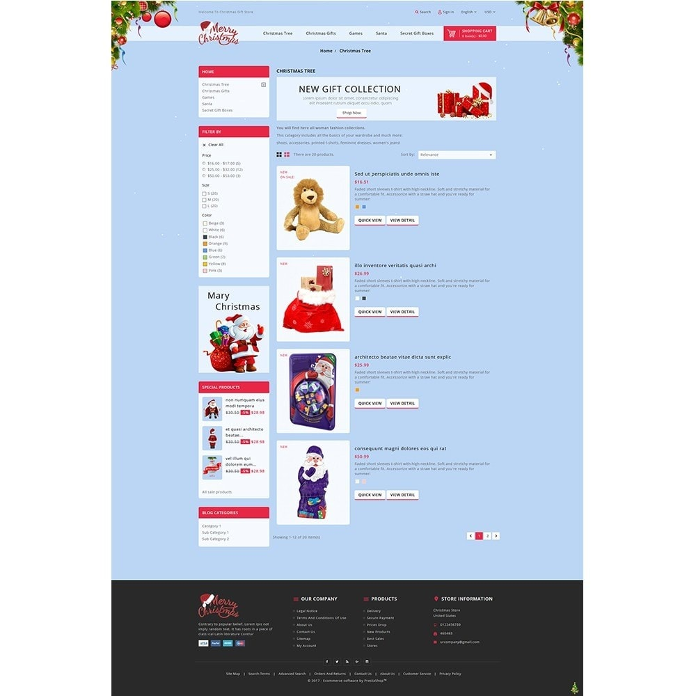 theme - Gifts, Flowers & Celebrations - Christmas Store - 4